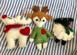 Decorations - Festive Sheep, Deer, Reindeer, Cactus
