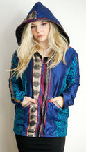Load image into Gallery viewer, COAT - Recycled Sari winter jacket - GREENS