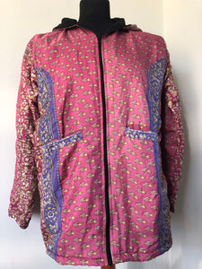 COAT - Recycled Sari winter jacket - PINKS