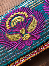 Load image into Gallery viewer, Purse - Decorated embroidered Indian clutch purse - Large