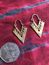 Load image into Gallery viewer, Earrings - Brass Tribal Gypsy Spirals - Small