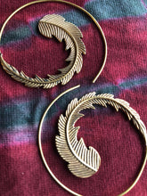 Load image into Gallery viewer, Earrings -  Brass Tribal Gypsy Spirals - Large