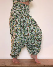 Load image into Gallery viewer, Parrot print cotton Harem Trousers