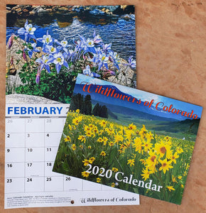 Colorado Wildflowers Spotlighted in New 2020 Wall Calendar