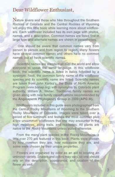"Rocky Mountain Wildflowers Field Guide Expanded Second Edition, 272 pages (4"" x 6"")"