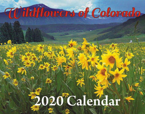 2020 Wildflowers of Colorado Photo Calendar. Available Now! FREE SHIPPING!