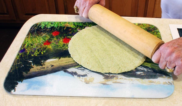 "Large Oriental Poppies Painting Cutting Board, 11.5""x15.5"""