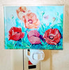 Oriental Poppies Watercolor Night Light