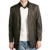 BGSD Men's Classic Three-Button Cowhide Leather Blazer - Regular, Tall, Big, Big & Tall