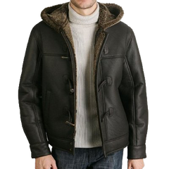 BGSD Men's Hooded Wool Blend Duffle Coat