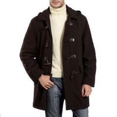 BGSD Men's Hooded Sheepskin Shearling Jacket