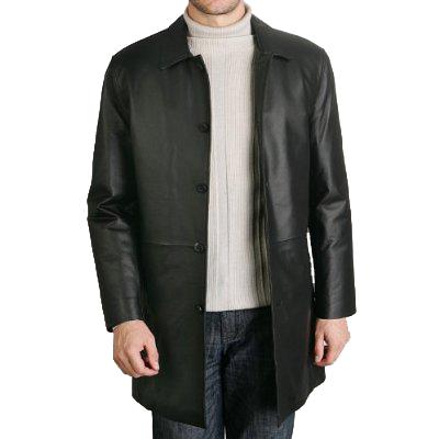 BGSD Men&39s Leather Car Coat | FRANT