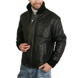 BGSD Men's Quilted New Zealand Lambskin Leather Motorcycle Jacket