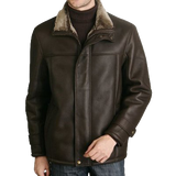 BGSD Men's Spanish Merino Shearling Coat
