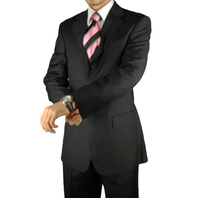 Dark Charcoal Mens Suits Italian Merino Wool