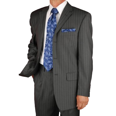 Italian Mens Suits Charcoal Pinstripe Merino Wool