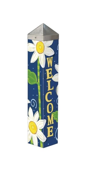 Daisy Blues Garden Art Pole