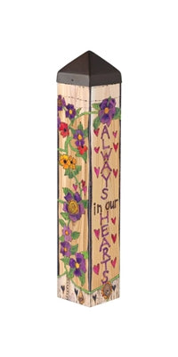 Our Hearts Remember Garden Art Pole