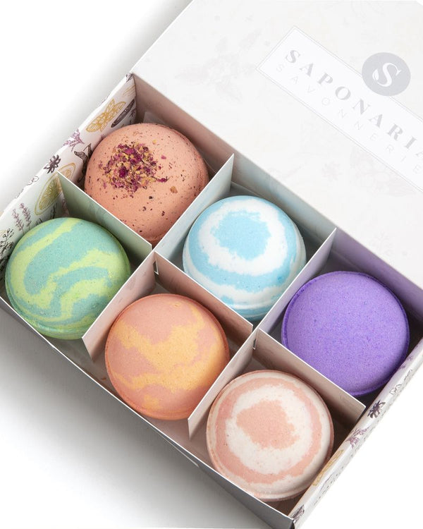 Saponaria 'Relaxation' Bath Bomb box, 175g