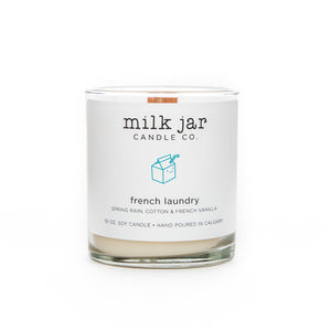 Milk Jar Co, French Laundry- Spring Rain, Cotton & French Vanilla, 10oz