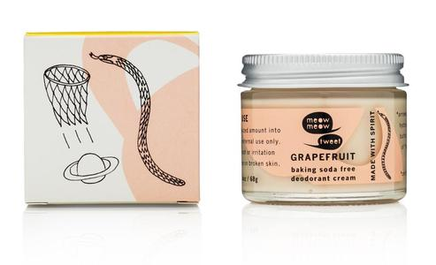 Grapefruit Baking Soda Free Deodorant Cream, 60g - Meow Meow Tweet