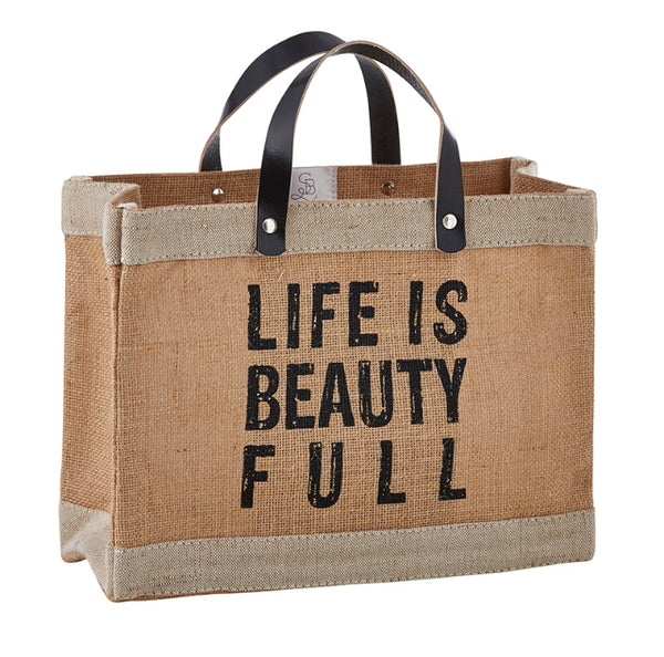 Life is Beautiful Mini Market Tote