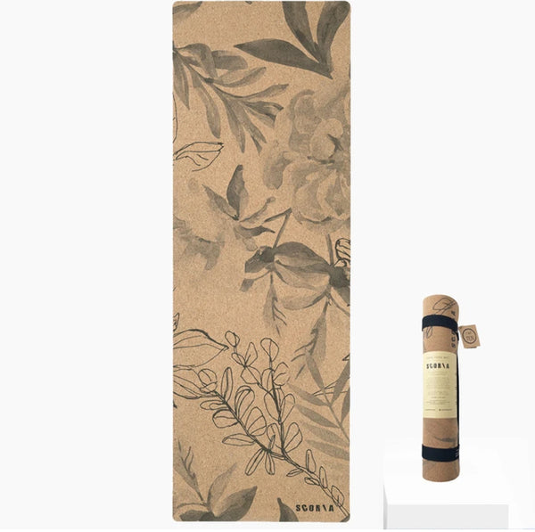 Scoria Blossom Cork Yoga Mat | 4.5MM