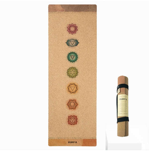 Scoria Chakras Cork Yoga Mat | 4.5MM
