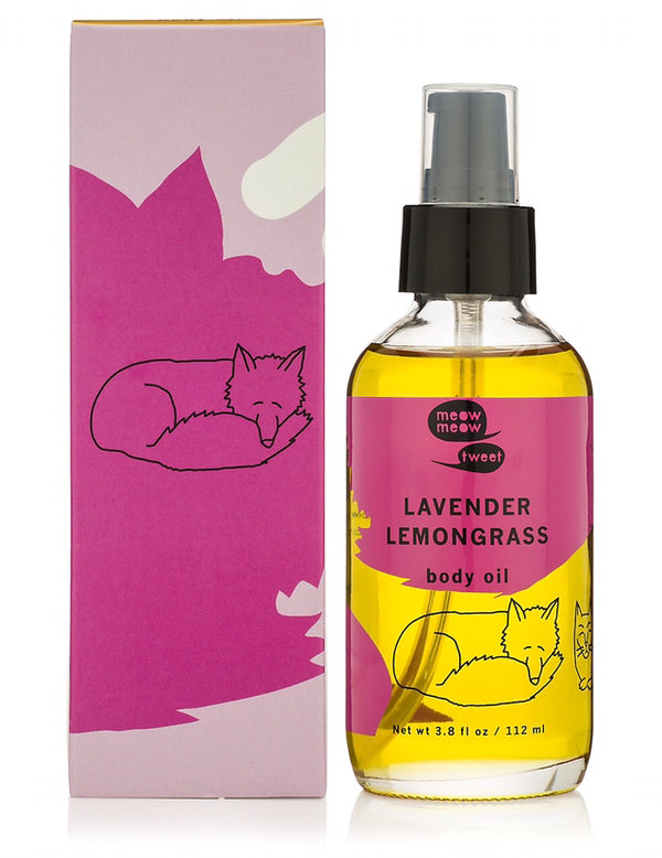Lavender Lemongrass Body Oil, 112ml - Meow Meow Tweet
