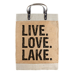 Live Love Lake- Large Market Tote
