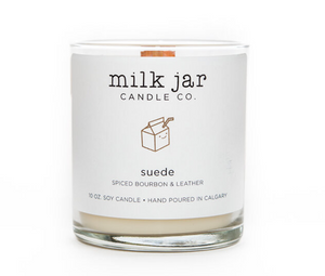 Milk Jar Co, Suede, Spiced Bourbon & Leather  - 10oz