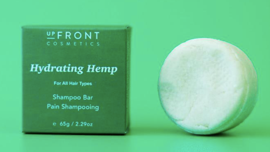 upFront Cosmetics Shampoo Bar - Hydrating Hemp,  For All Hair Types