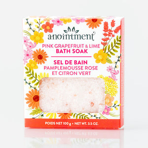 Anointment, Pink Grapefruit & Limel Bath Soak, 100g