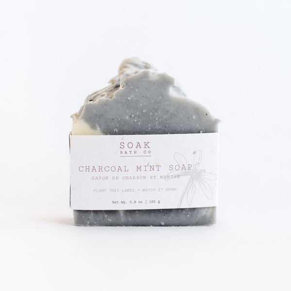 Soak Bath Co, Charcoal Mint Soap Bar,