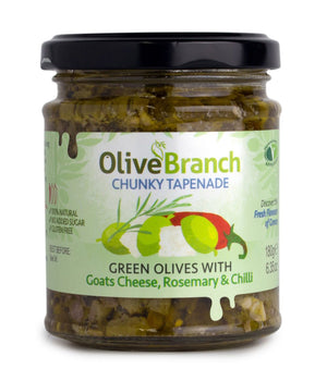 Olive Branch, Green Olive Tapenade W/ Goats Cheese, Rosemary & Chilli, 180g