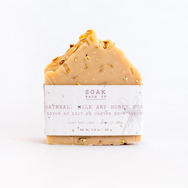 Soak Bath Co, Oatmeal, Milk & Honey Soap Bar,