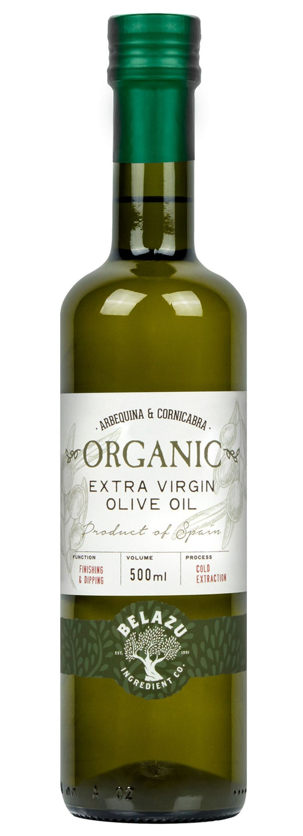 Belazu Organic Extra Virgin Olive Oil, 500ml