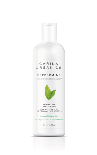 Carina Organics Peppermint Shampoo And Body Wash,  360ml