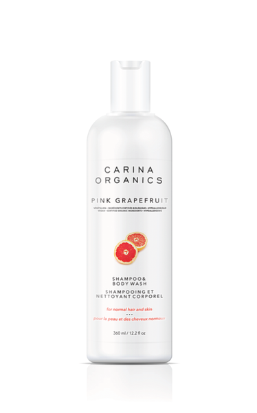 Carina Organic Pink Grapefruit Shampoo And Body Wash,  360ml