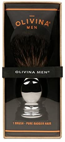 Natural Fibre Premium Shave Brush - Olivina