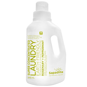 Sapadilla Laundry, Rosemary + Peppermint, 946ml