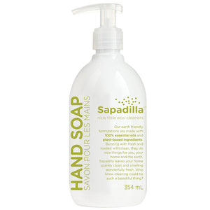 Sapadilla Hand Soap, Rosemary + Peppermint,  354ml