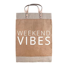 Weekend Vibes - Large Market Tote