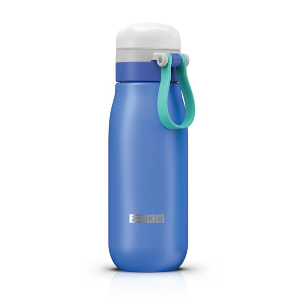 Zoku Ultralight 18oz Stainless Steel Bottle - Blue