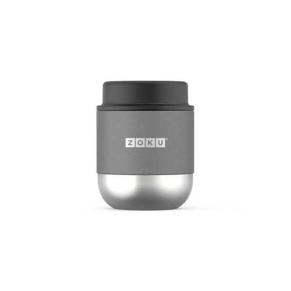 Zoku 10oz Neat Stack Stainless Steel Food Jar - Grey
