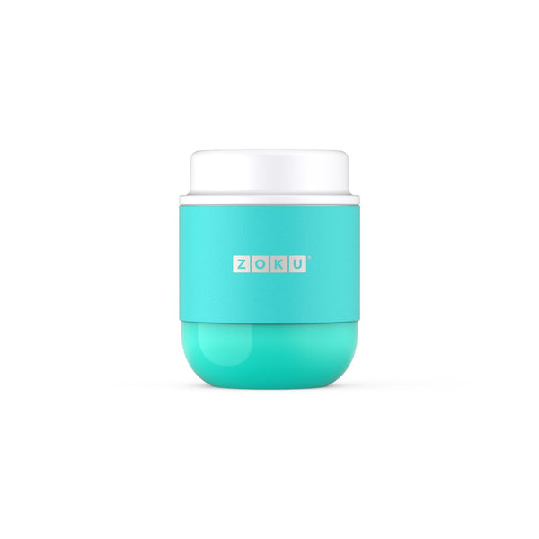 Zoku 10oz Neat Stack Stainless Steel Food Jar - Aqua