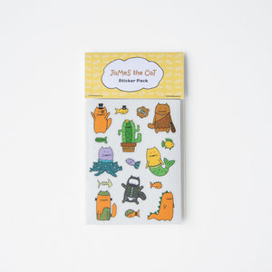 James the Cat - Costume Stickers