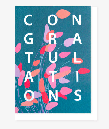 Bunny Tail Congratulations Card