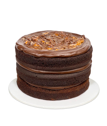 Sticky Chocolate, Peanut Butter & Salted Caramel Cake (GF)