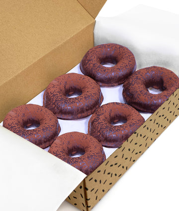 Chocolate Ring Doughnuts x 6 (GF/DF/CN)
